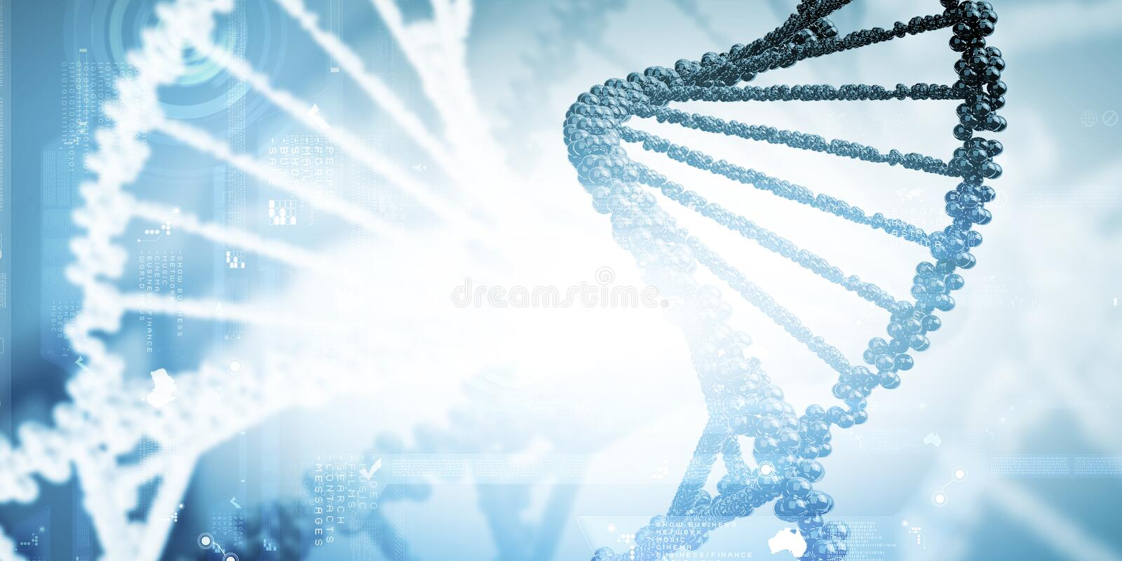Download Molecule of DNA stock image. Image of atom, research - 48295751