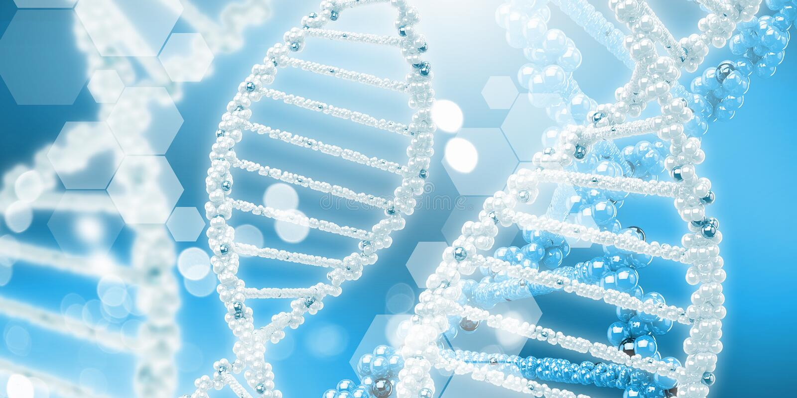 Molecule of DNA royalty free stock images
