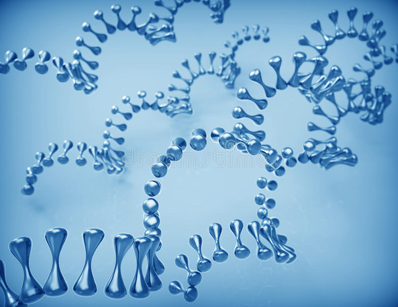 Molecule DNA 3d stock illustration