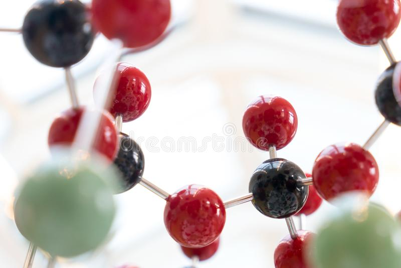 Molecule, DNA in de test van het laboratoriumlaboratorium, chemie royalty-vrije stock afbeelding