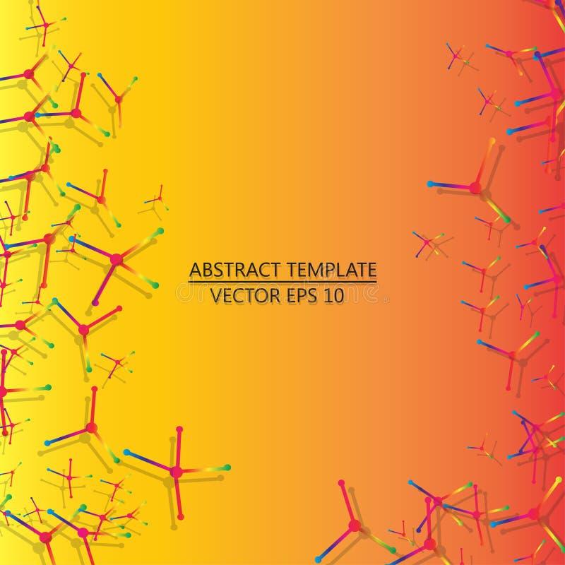 Molecule DNA and neurons vector. Molecular structure. vector illustration