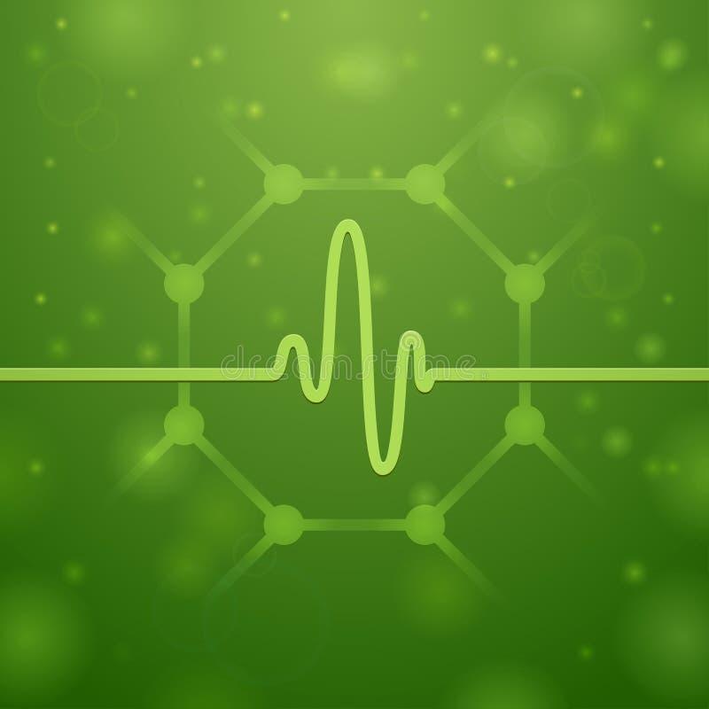 Molecule en Cardiogram royalty-vrije illustratie
