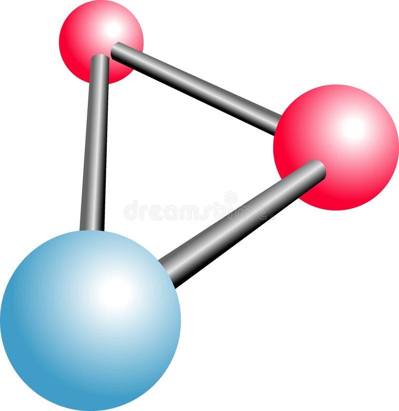 Molecule H2O Cartoon Royalty Free Stock Photo