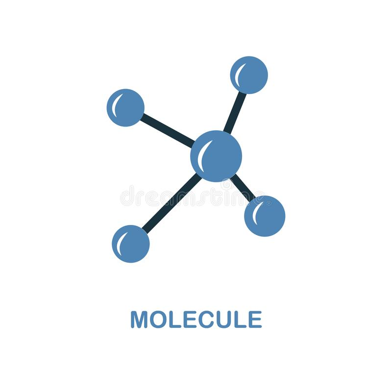 Molecule icon. Simple element illustration. Molecule pixel perfect icon design from education collection. Using for web design, ap vector illustration