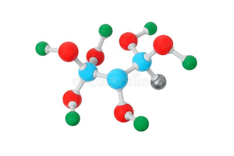 Molecule op wit stock afbeeldingen