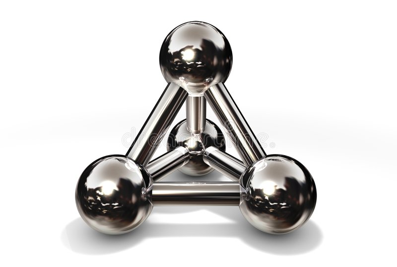 Molecule Structure Chrome royalty free illustration
