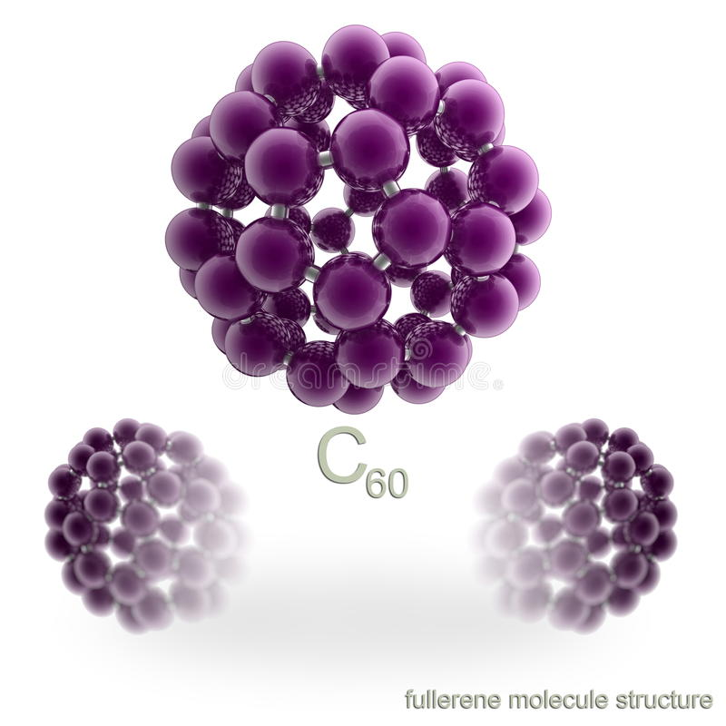 Molecule Structure Of Fullerene Royalty Free Stock Photography