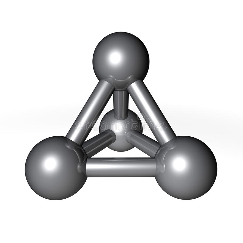 Molecule Structure Metallic Grey Stock Photo