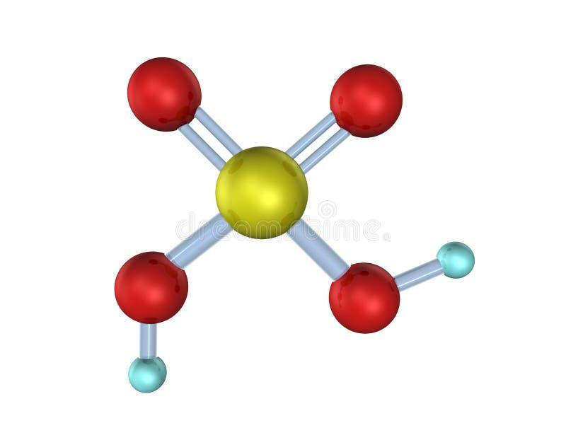 Download Molecule Sulfuric Acid 3D stock illustration. Image of science - 11889664