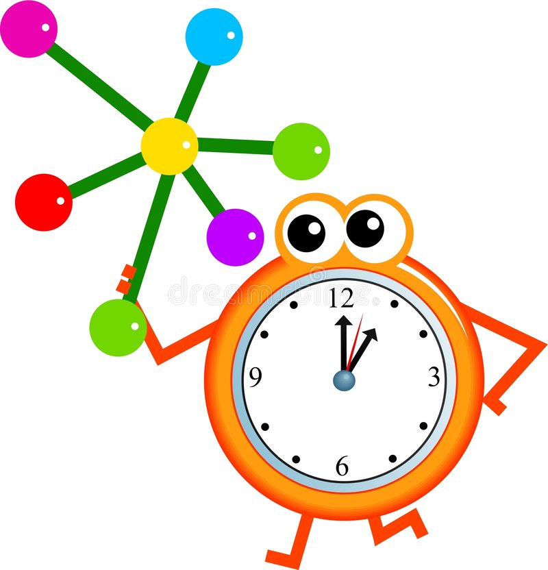 Molecule time stock illustration
