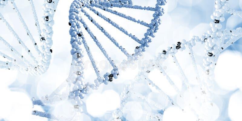 Molecule van DNA stock fotografie