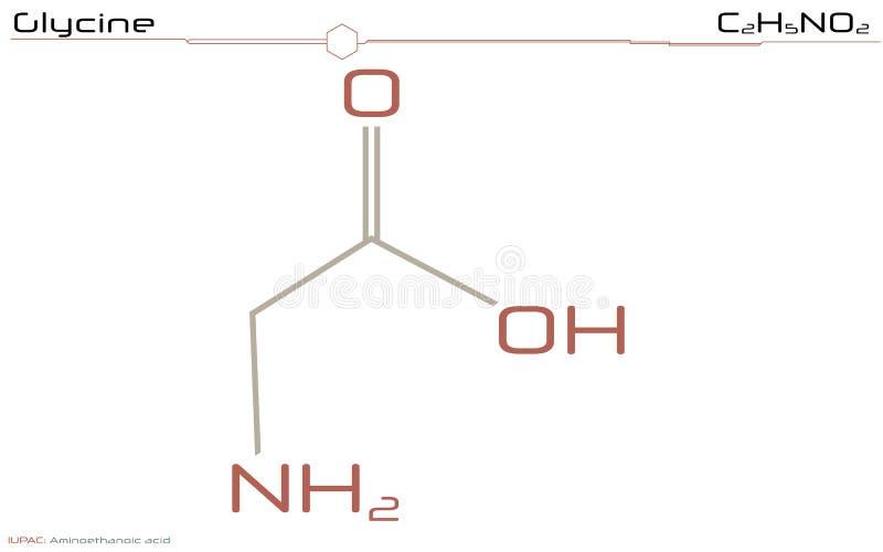 Molecule van Glycine vector illustratie