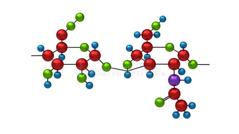 Molecule van hyaluron royalty-vrije illustratie