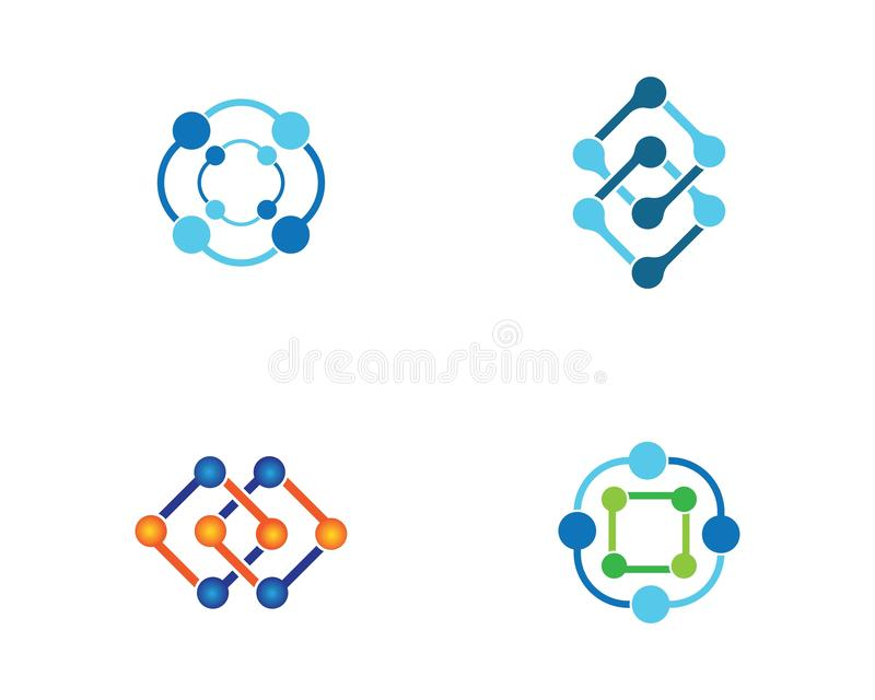 Molecule vectorpictogram vector illustratie