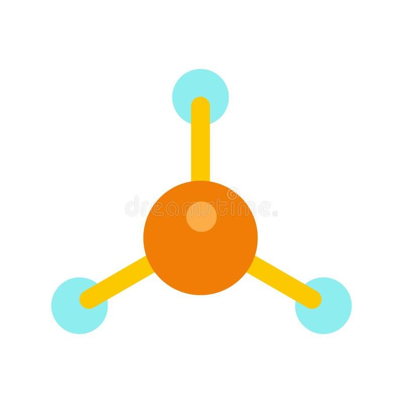 Molecule vlak pictogram vector illustratie