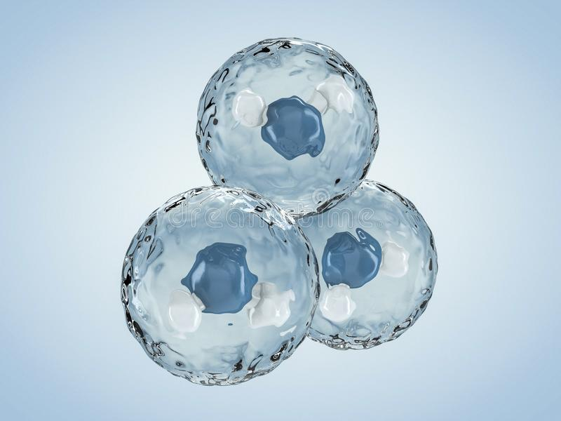 Molecule of Water. Structure. 3D royalty free illustration