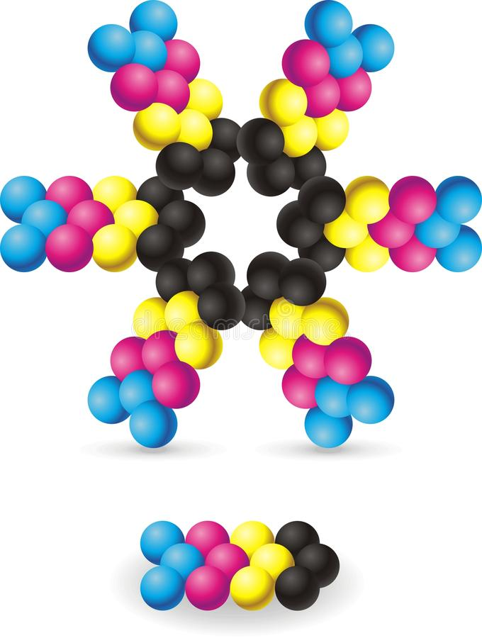 Download Molecules stock vector. Illustration of print, structure - 15960799