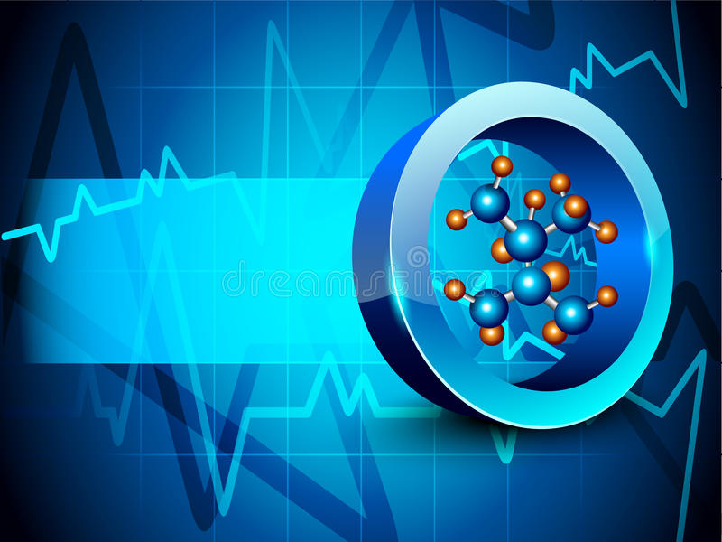 Molecules background. stock illustration