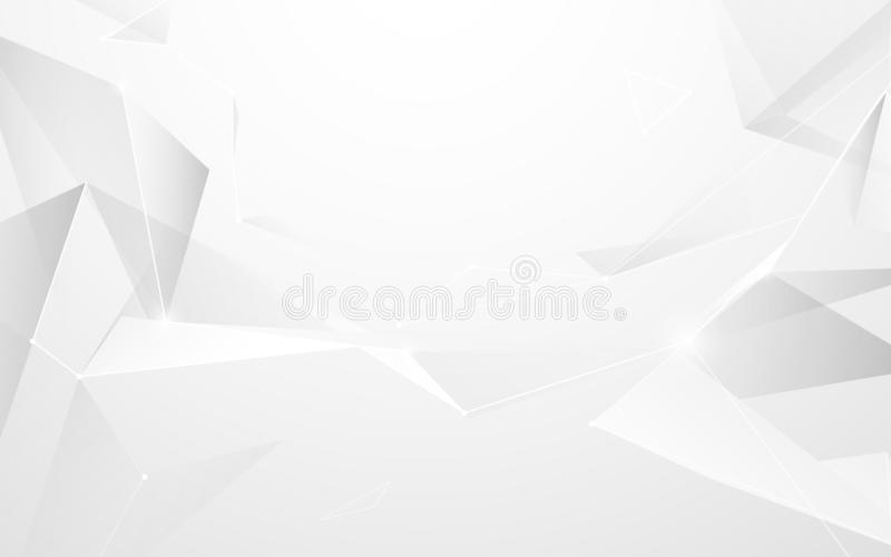 Molecules structure mesh on white background. Science and Technology concept. Illustration vector stock illustration