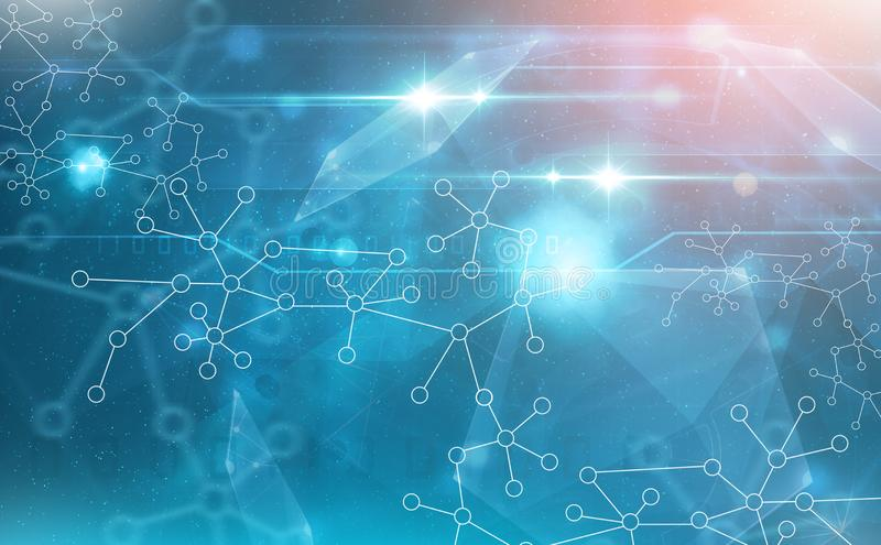 molecules wetenschap en technologie abstracte achtergrond royalty-vrije stock foto's