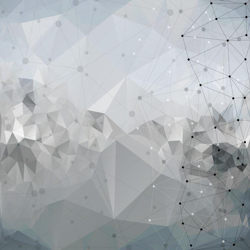 Moleculestructuur, achtergrond voor mededeling, royalty-vrije illustratie