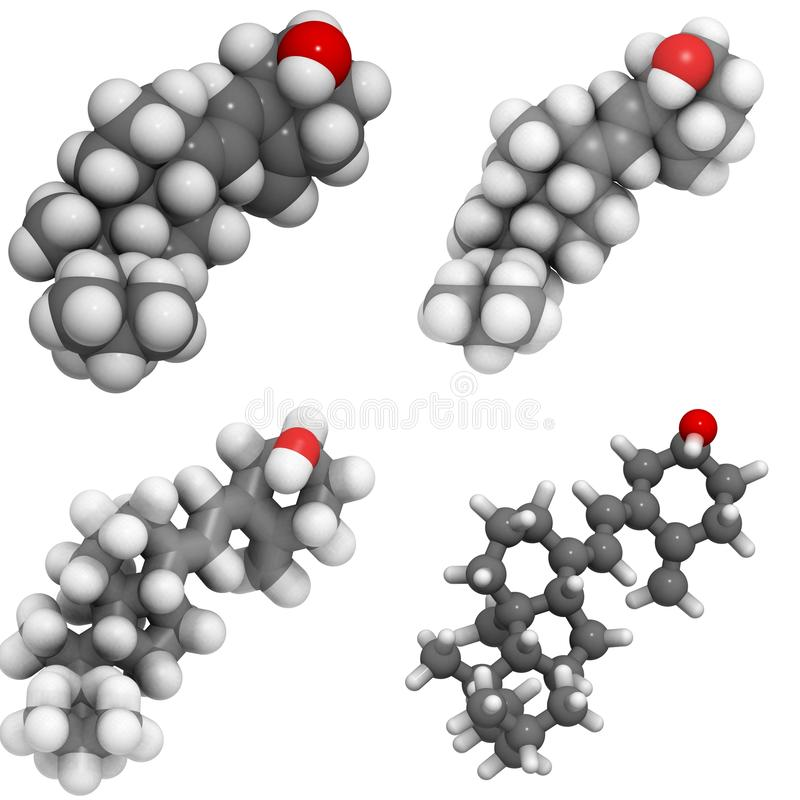 Molekül des Vitamins D3 (cholecalciferol) lizenzfreie abbildung