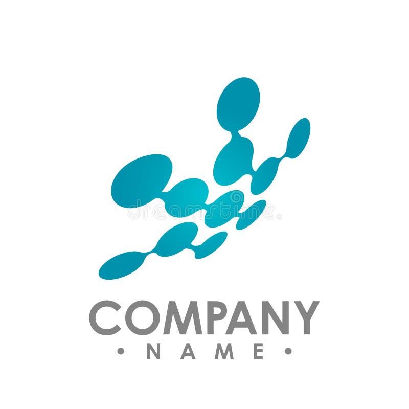 Molekülikonenvektor-Schablone Logo lizenzfreie abbildung