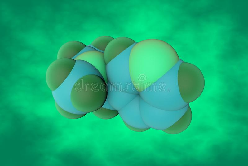 Molekülstruktur des Nikotins Es ist ein Alkaloidgeschenk in den Nachtschattengewächsen von Anlagen Wissenschaftlicher Hintergrund vektor abbildung
