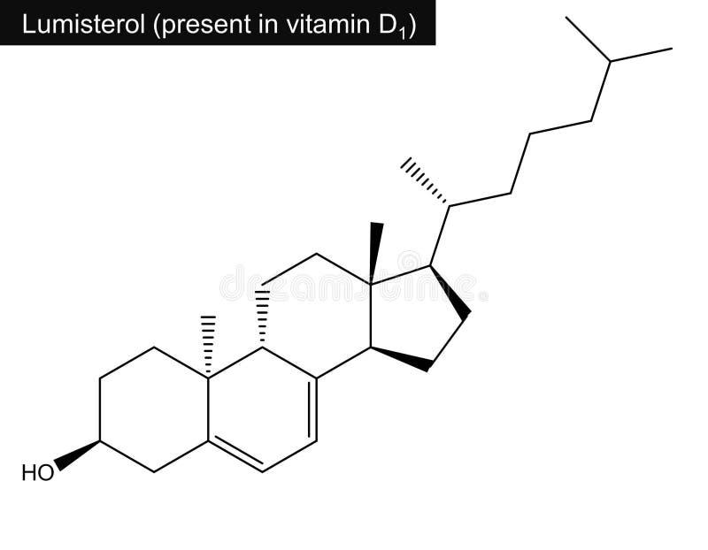 Molekülstruktur von lumisterol Vitamin D lizenzfreie abbildung