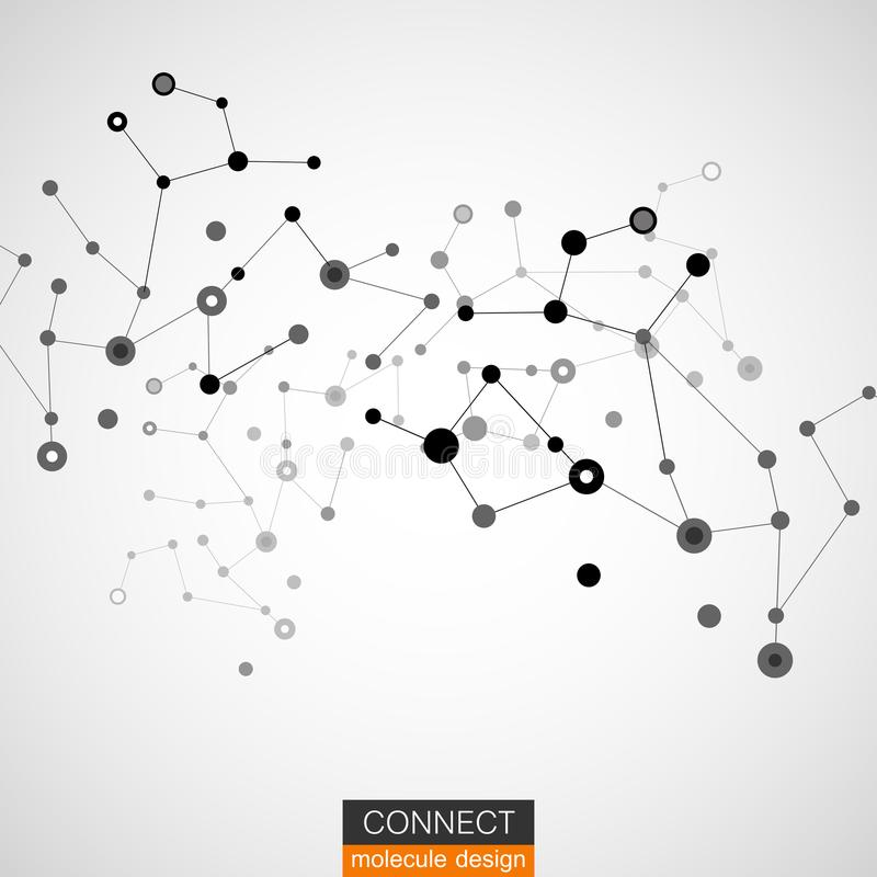 Molekülstrukturvektor-Illustrationshintergrund lizenzfreies stockbild