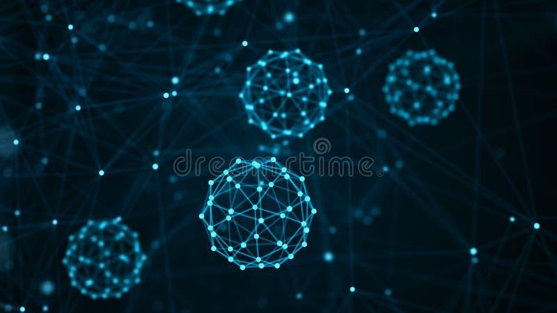 Molek?l-Konzept Abstrakte Neuronen und Nervensystem Medizinischer Hintergrund Wiedergabe 3d stock abbildung