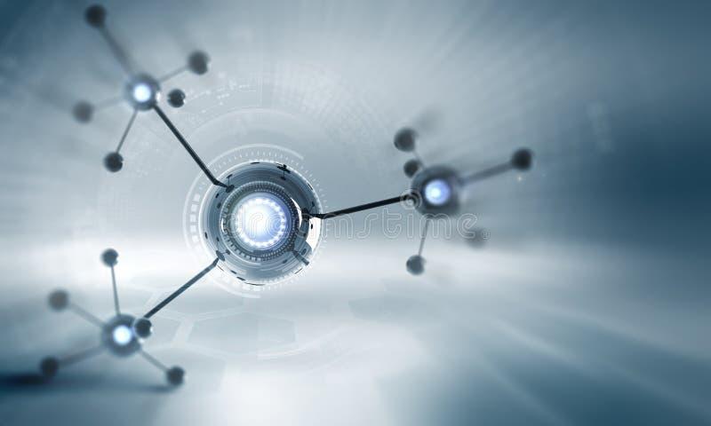 Molekuła łańcuch fotografia stock