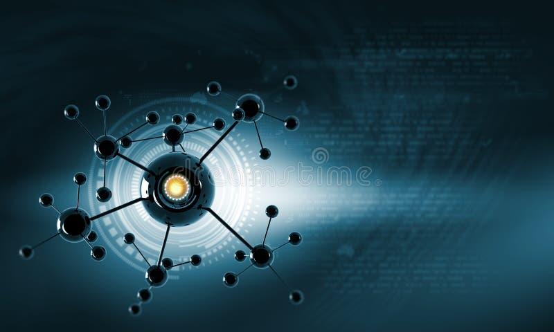 Molekuła łańcuch zdjęcia stock