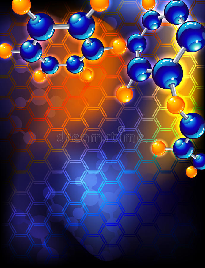 molekuła royalty ilustracja