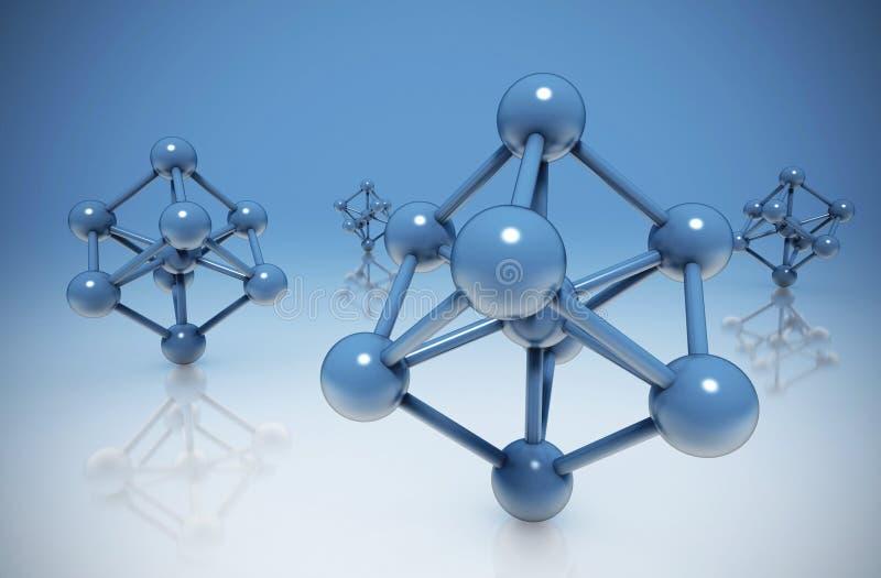 Molekuła abstrakta tło royalty ilustracja