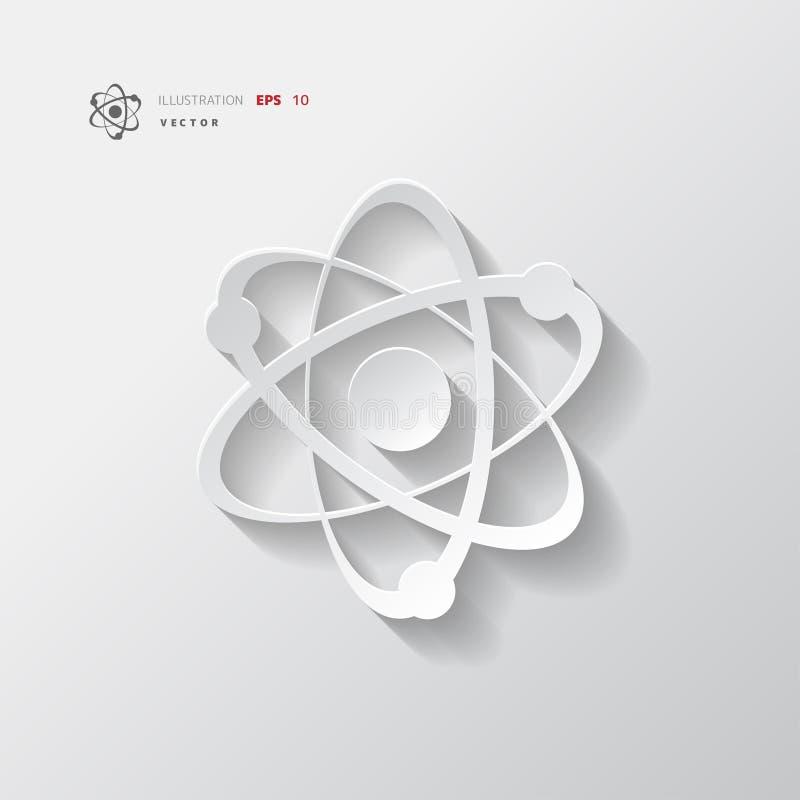 Molekuła, atom ikony wektoru ilustracja ilustracja wektor