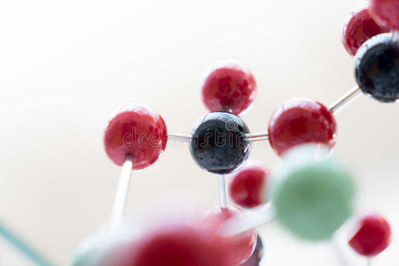Molekuła, DNA w laboranckim lab tescie, chemia zdjęcie stock