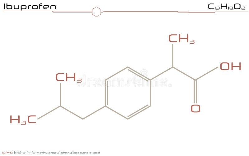 Molekuła Ibuprofen ilustracja wektor