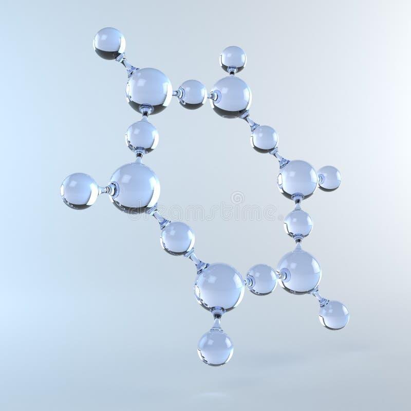 Molekuła woda royalty ilustracja