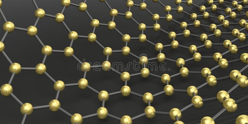 Molekuły łączyć ilustracja 3 d ilustracji