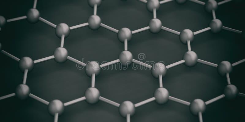 Molekuły łączyć ilustracja 3 d ilustracja wektor
