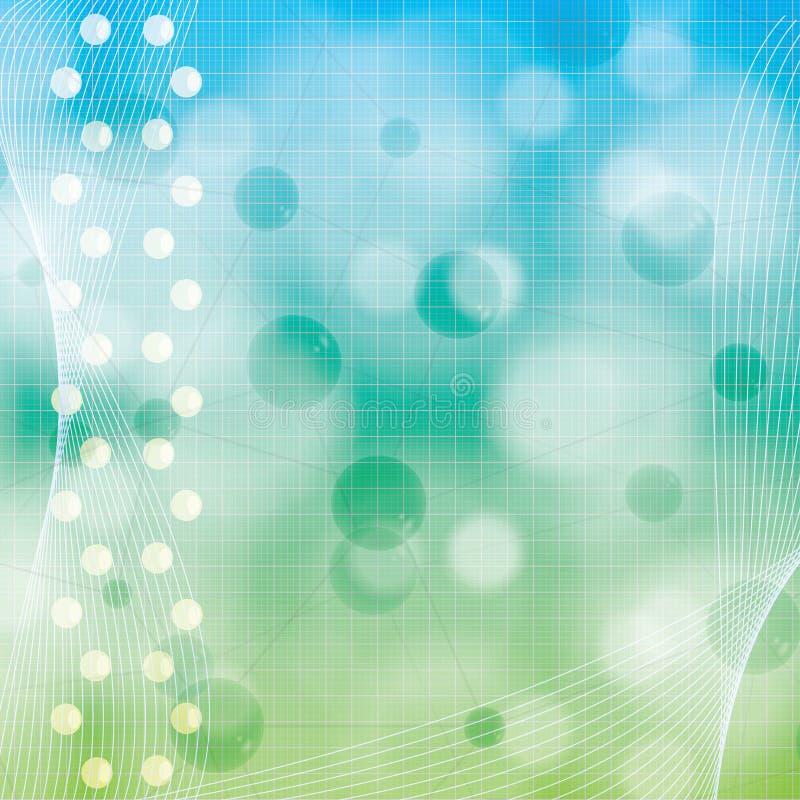 Molekuły błękitnej zieleni tło royalty ilustracja