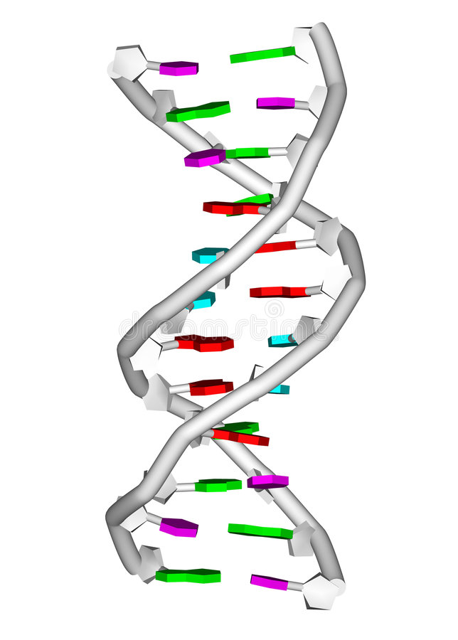 molekuły dna royalty ilustracja