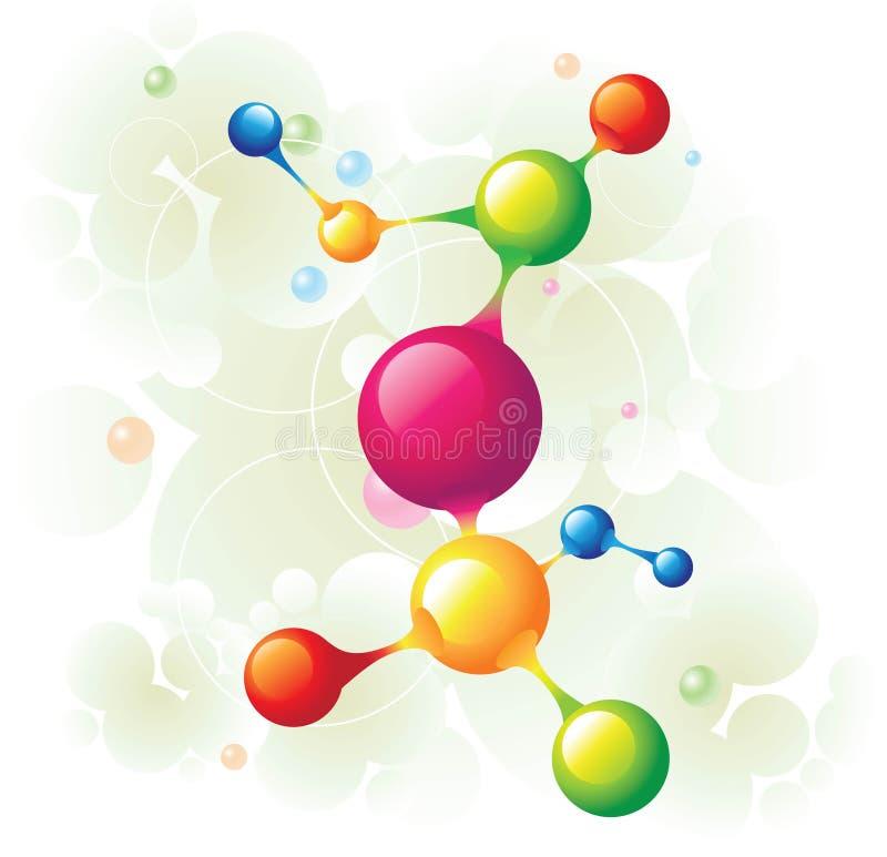 molekuły drzewo ilustracja wektor