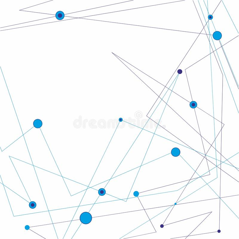 Molekuły I komunikaci tło royalty ilustracja