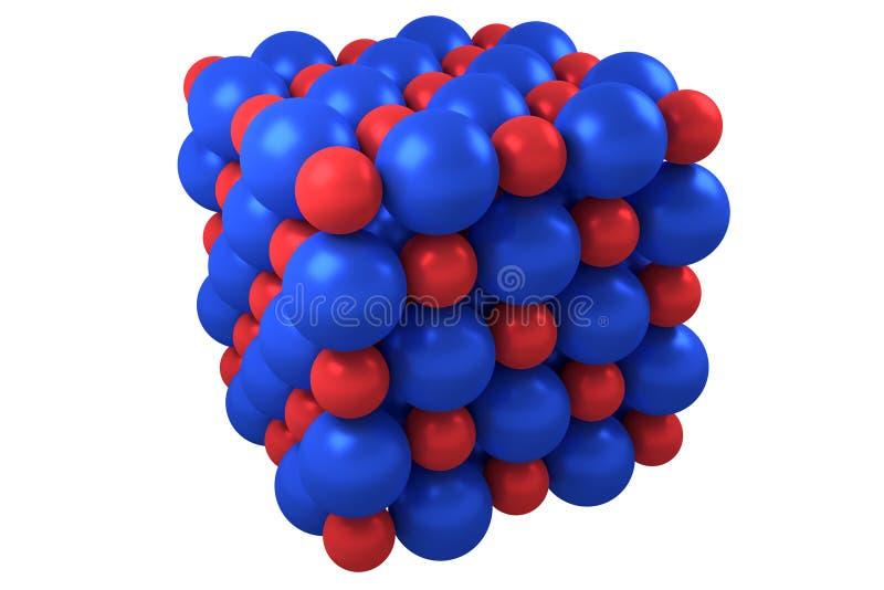 Molekuły kubiczna krystaliczna struktura ilustracji