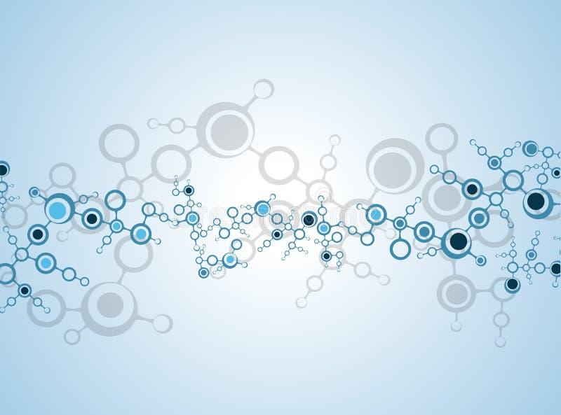 Molekuły medyczny tło ilustracja wektor