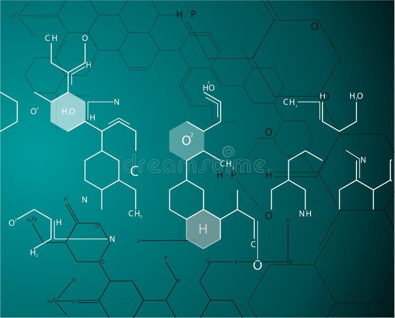 Molekuły pojęcie neurony i układ nerwowy royalty ilustracja