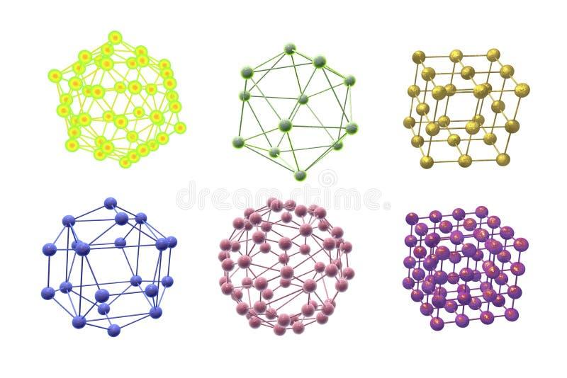 Molekuły różni kształty ilustracji