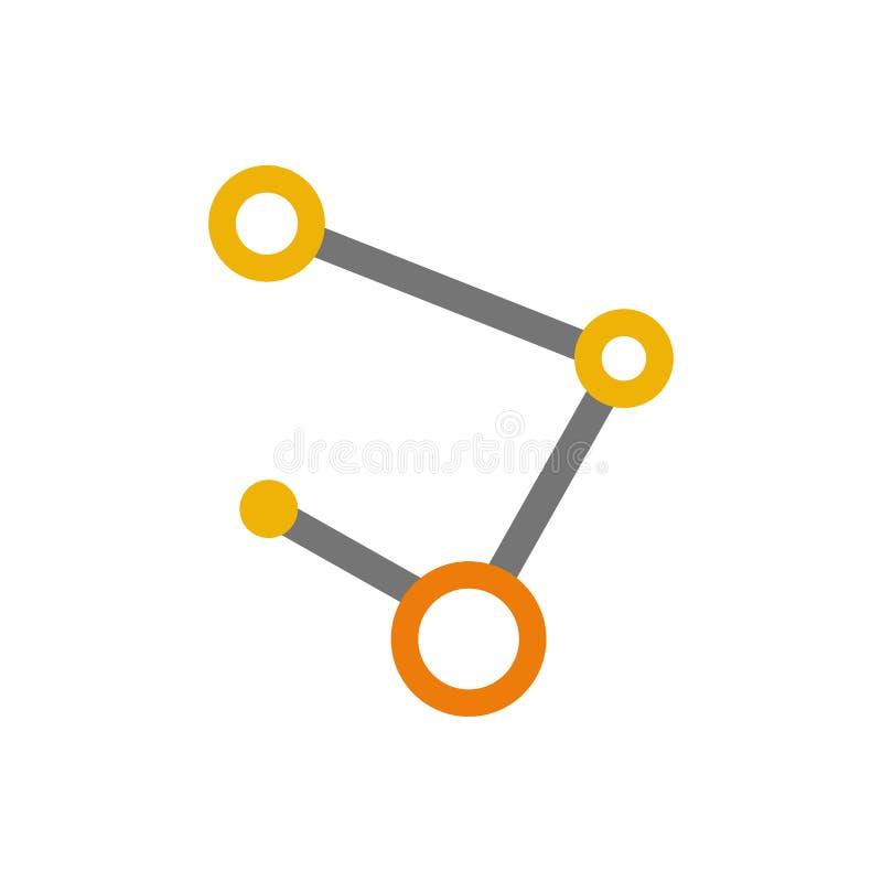 Molekuły sieci ścieżki Abstrakcjonistyczny symbol royalty ilustracja